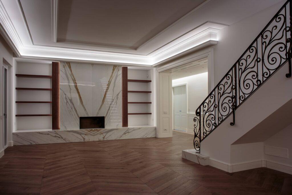 Люксовая отделка интерьера квартиры